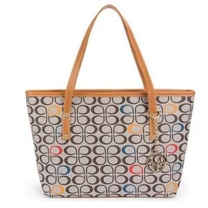 Tote Shoulder Handbag with Metal Decoration